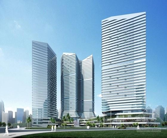 [广州]超高层折线式体量新都市休闲型公寓楼建筑设计方案文本