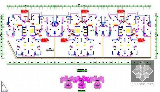 [全套]湖南保障房项目消防工程量清单控制价编制实例(含招标文件施工图纸300张标底)-5号楼二层通风平面图
