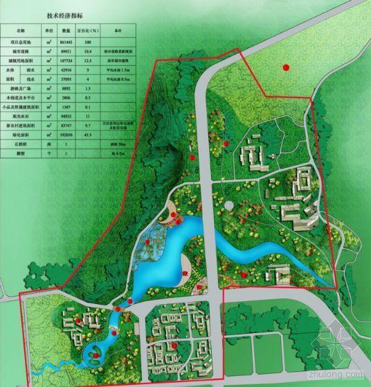 城市入口处公共绿地景观规划平面