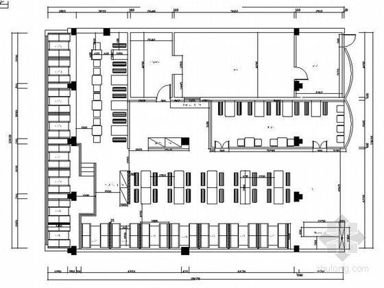 [湖南]连锁现代风格面馆装饰设计施工图