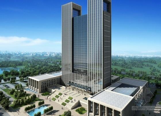 [西安]39层180米办公综合体建筑设计方案文本
