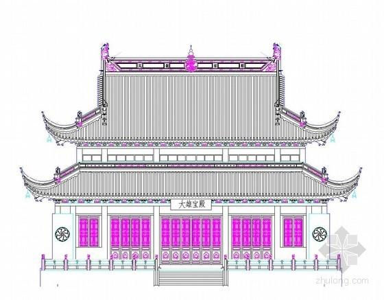古建寺庙立面图