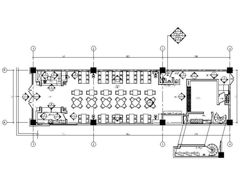 [郑州]全国连锁餐饮空间设计CAD施工图(含效果图)