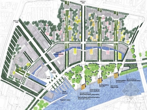 [天津]特色滨水综合性社区景观设计方案