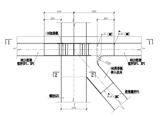 64层框架核心筒结构超高层大厦结构施工图(CAD、70张)_2