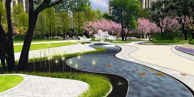 成都九里晴川大区新中式住宅景观-1 (16)