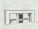 简约大门围墙模型设计