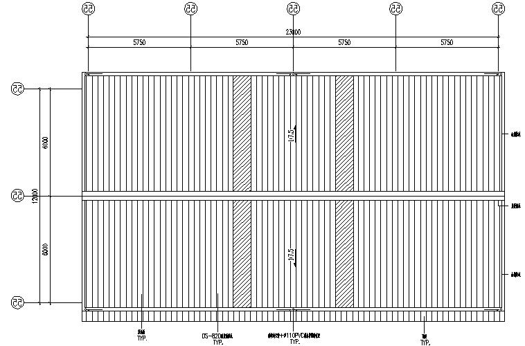 鹏飞石业轻型门式钢屋架结构施工图(CAD,13张)