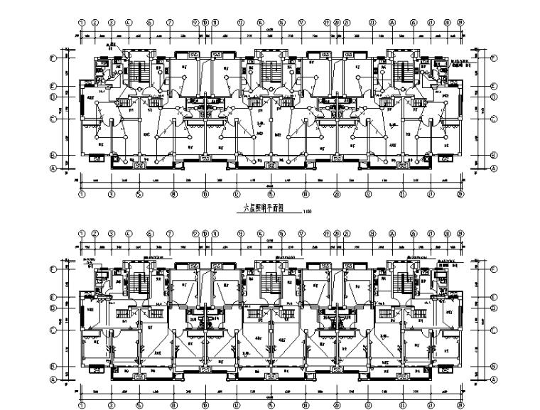 江苏6层住宅楼建筑水电图纸(含安装工程预算书)