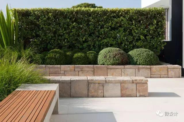 各式各样的庭院景观墙,美_4