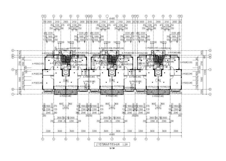 [上海]预制装配式(PC)钢混住宅楼结构施工图(2016)