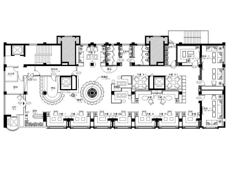 悦酒廊酒吧空间设计施工图(附效果图)