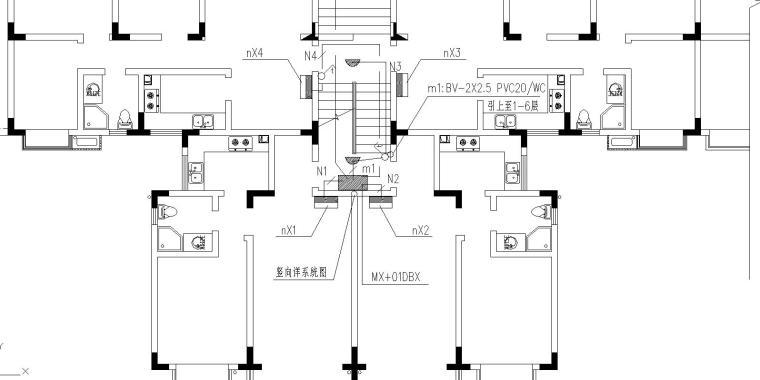 某公寓电气设计图
