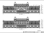 3层欧式酒店建筑设计方案CAD施工图