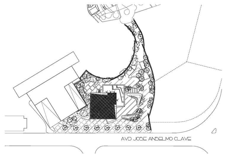 西班牙独特雕塑般构造的文化中心平面图 (25)