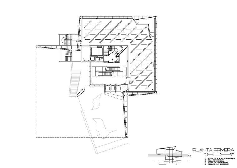 西班牙独特雕塑般构造的文化中心平面图 (26)