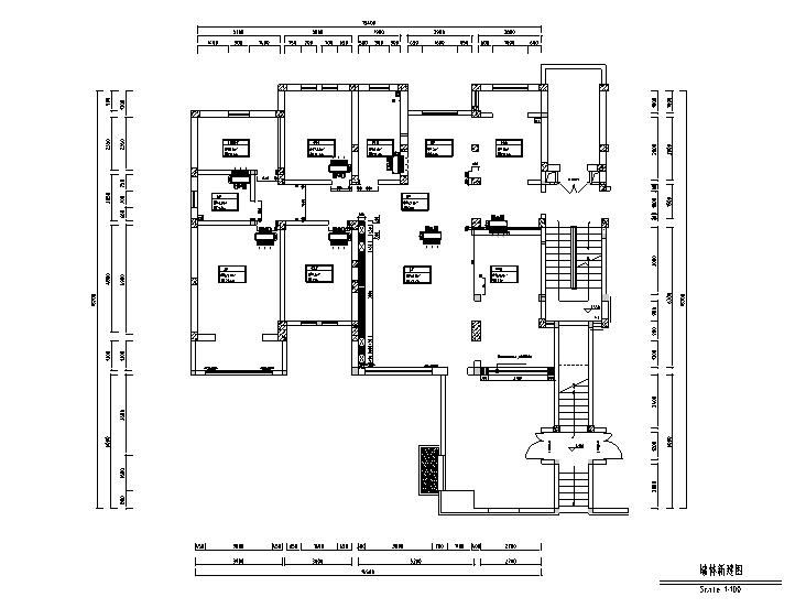 [河北]新东方朴素华美红山庄园别墅设计施工图(附效果图)