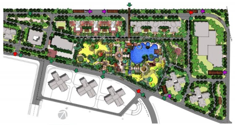 武汉万科城小区景观设计方案