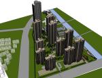 [无锡]高层现代住宅高层平面立面总图方案