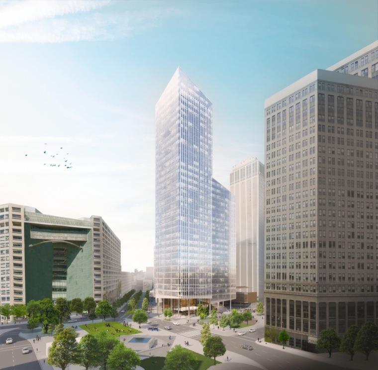 美国底特律地标性城市总体规划-1