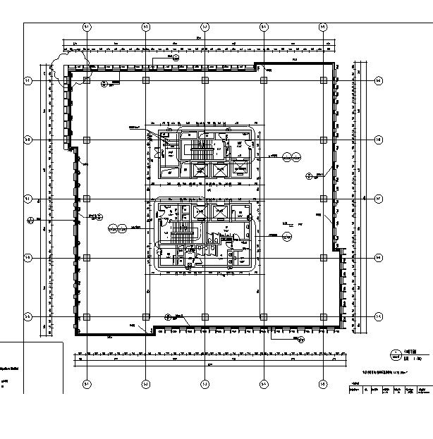 [上海]13栋结构框剪高层专业建筑全图纸施工图交叉口停车场住宅图片