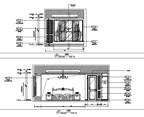 [杭州]欧式售楼处样板房住宅空间设计施工图(含效果图+实景图)_4