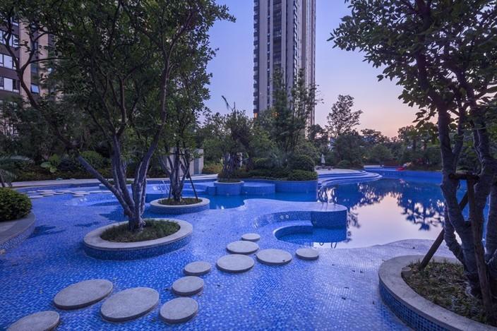 杭州融创瑷颐湾住宅景观的实景图 (19)