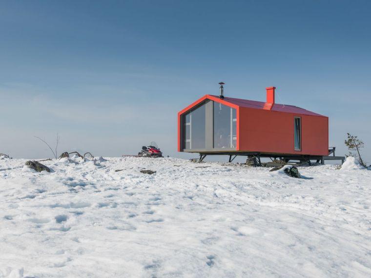 俄罗斯雪地上的DublDom预制观景屋-13