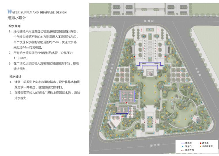 [安徽]界首省道出入口、火车站前广场及外环道路景观设计方案-给排水设计