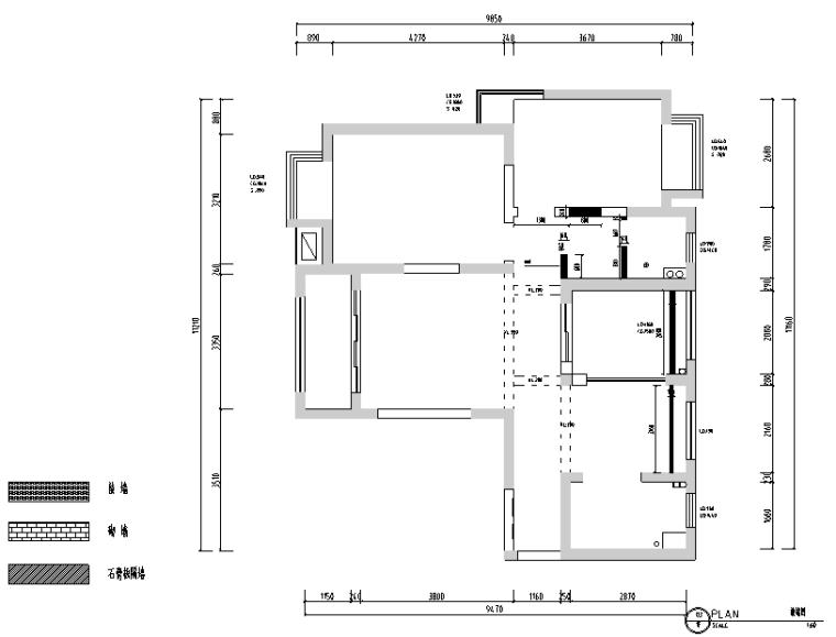 黑白灰色调现代风格样板房设计施工图(附效果图)_2