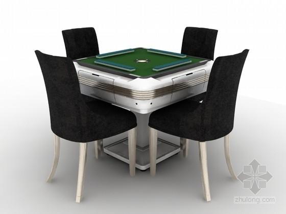 麻将桌3d模型下载