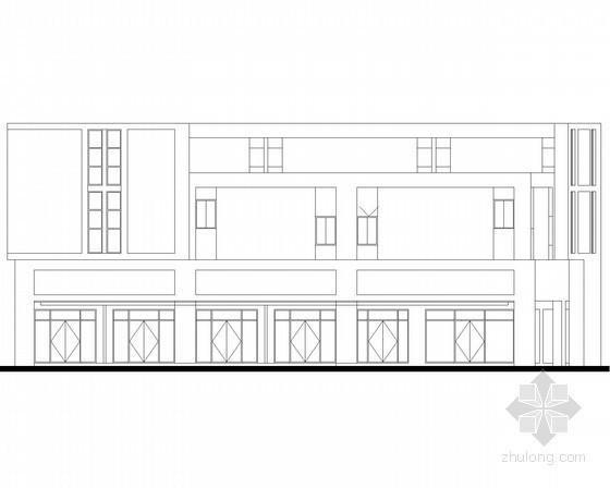 [宜昌]某商贸物流中心二层端头商铺建筑施工图(4号楼)