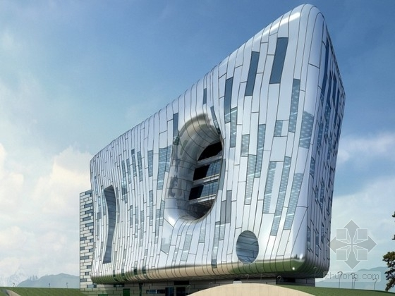 [深圳]某8层规划展览馆建筑方案文本(含cad、模型)