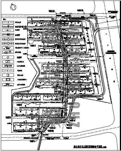 给水排水电力通讯管线综合平面图