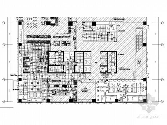 [武汉]知名广场五星酒店强电系统施工图纸(知名院)