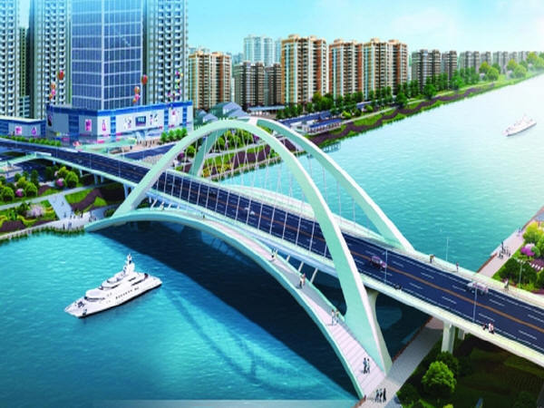 泉河桥主桥及引桥图纸全套413张CAD(中承式120m钢箱拱桥,观景廊道,T型刚构,现浇箱梁)