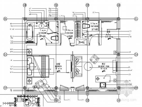 特色中式会所套房室内装修施工图(含效果)