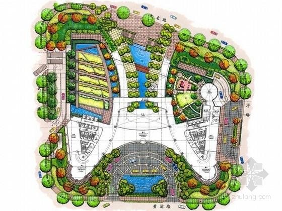 [上海]滨水中央商务区景观概念设计方案