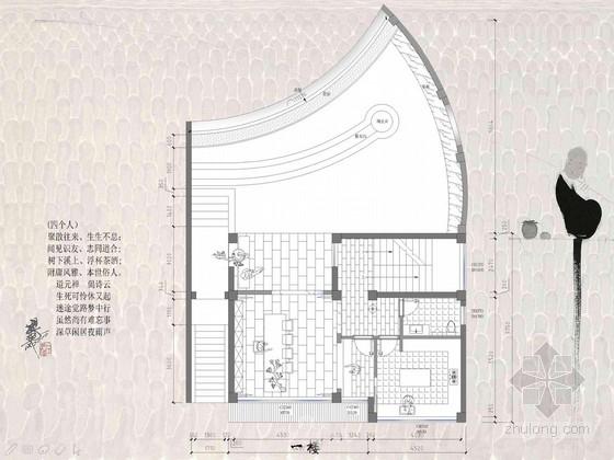 禅意十足典雅中式风格休闲茶楼会所室内设计方案