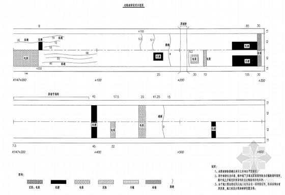 [安徽]沥青混凝土路面道路中修工程全套施工图(111页 附预算 交通工程)