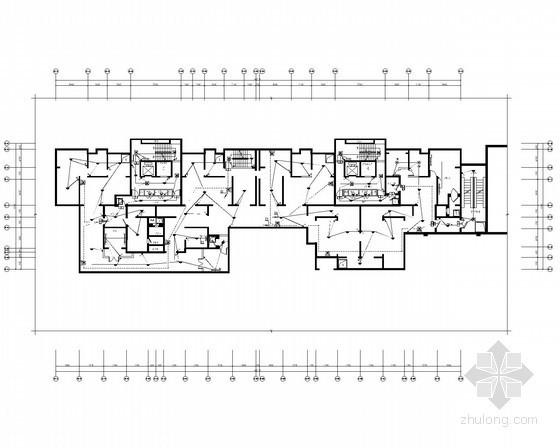 [陕西]高层住宅带人防电气施工图(甲级院最新设计)