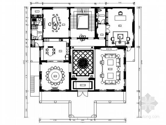[福州]超奢华欧式独栋豪宅室内装修CAD施工图(含效果)