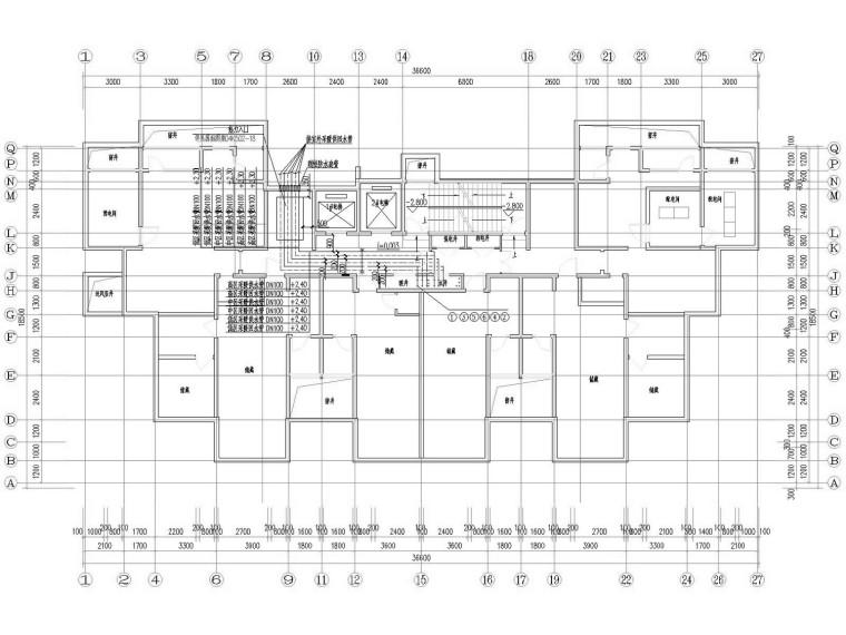 [山东]多栋高层住宅小区采暖通风及防排烟系统设计施工图