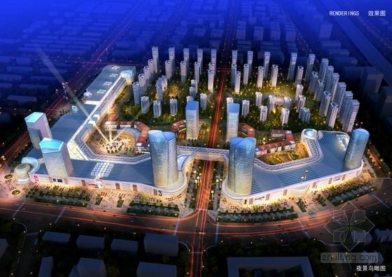 现代风格商业综合体及住宅设计方案效果图
