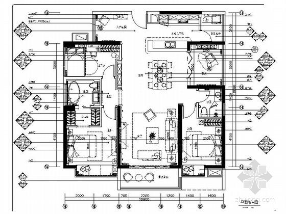 [广东]华丽欧式风格三居室样板间室内装修施工图(含高清实景图 推荐!)