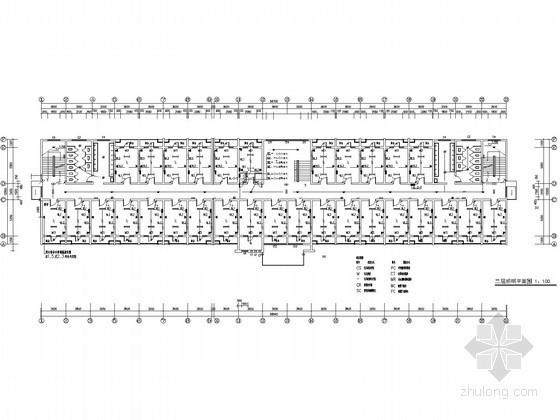 高校六层宿舍楼电气图