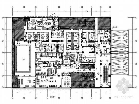 [青岛]中央商务区法国著名品牌现代五星级酒店室内装修施工图(含效果及实景)
