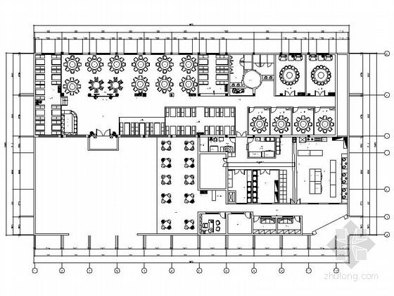 [浙江]某时尚特色餐厅室内装修施工图