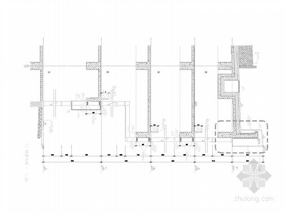 [上海]高层玻璃幕墙框架结构办公商业综合体建筑施工图(600多张图-高层玻璃幕墙框架结构办公商业综合体建筑详图