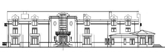 圆形英式别墅建筑施工图